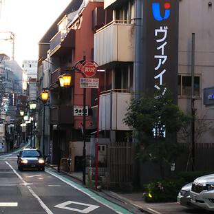 東京医大通りをそのまま直進しヴィアイン新宿ホテルが右手に見えるのでそのまま直進します。